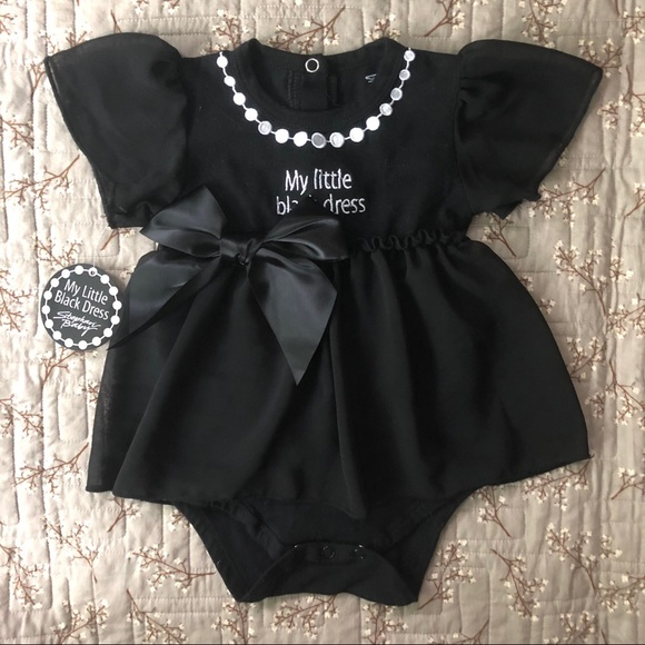 Other - BOGO! 🎉 NWT Baby Girls Black Bodysuit Dress